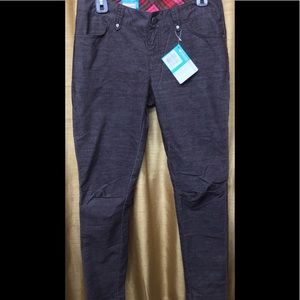 Columbia Active Fit Skinny Brown Corduroy Pants